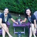  Lori and Lynn enjoying a celebratory bottle of Sancerre in the front yard
