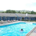 Beautiful view of Mt. Snow from the pool area.