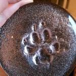 glass paw print made at house of marbles