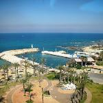 "A view of Batroun beach from  top floor of ""Sawary"" resort building"