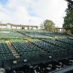 Looking out into the audience from the MUNY stage