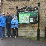 A wet day in Skipton - a 10 minute walk from the B & B