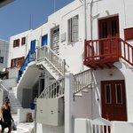  A street in Mykonos Town
