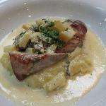 pork fillet apple mash