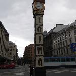 The meeting place, the most famous clock in Riga