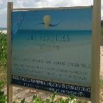  Sign of property on the beach