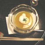  Pumpkin soup with caviar and tapioca in the bottom