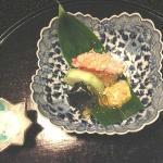  Boild clab with raw sea urchin