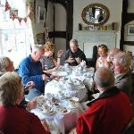 Walking group enjoying a well deserved Afternoon Tea!