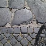 Change from 1800's cobbles to 3000 BC cobbles