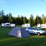camping site outside hotel