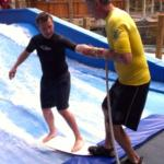 Surf lesson at Silver Rapids