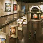 A view of the main gallery from the mezzanine