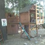 playground on the cabin grounds