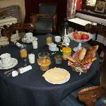 The breakfast selection