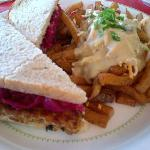  Tempeh Reuben with Poutine