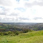On top of the hill overlooking Bath
