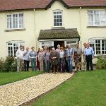 Our group with Gareth and Sue in front of Lowerfield Farm