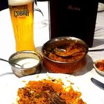 Chilled Beer n Hot Biryani! Bliss!