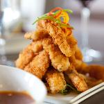Signature Calamari Fries with Mango BBQ Sauce