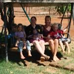 Relaxing in the shade with our exceptional hosts