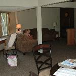  Looking from kitchen into family room area.