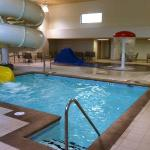 MainStay Suites Pool With 250ft water slide.
