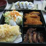 my bento box lunch and alaskan roll