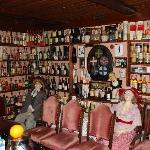 The breakfast buffet room - and the whisky collection