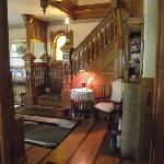  Beautiful wood staircase leading to the second floor