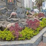 Flowers on the Tom Mboya Statue