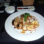  Teppenyaki seafood trio