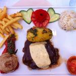 The restaurant plank steak - a classic around the World. Super tender meat!