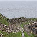 View from cliff top on the walk to Giant's Causeway