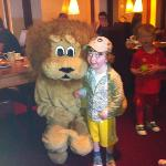 Lenny the Lion at Breakfast !