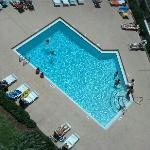  View of one of the pools from 8th floor balcony. Small and was crowded most of the time.