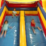 Inflatable slide, Lollipop's provide general supervision in every area of the playground