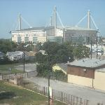  View of the Alamodome from a room