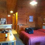 The warm and comfortable alpine style room