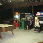 Game room at night
