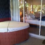 fabulous spa right outside main bedroom