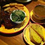 Double ribs with fries/salad and Pumpkin Soup.
