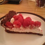 Chocolate crust, marsacpone and Raspberry dessert