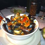 Mussels and clams; excellent