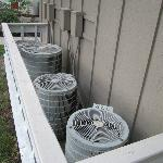  the HVAC units outside our room