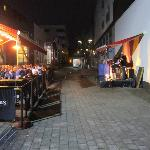  Irish Band playing nightly in alley behind hotel