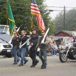 Flag Procession at the parade