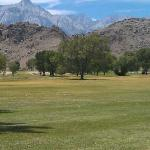 View of Lone Pine Peak and Mt. Whitney from 8th green