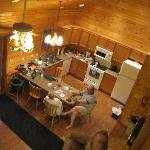 Kitchen area. Pic taken from the loft