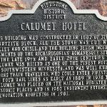 Historic sign on hotel.